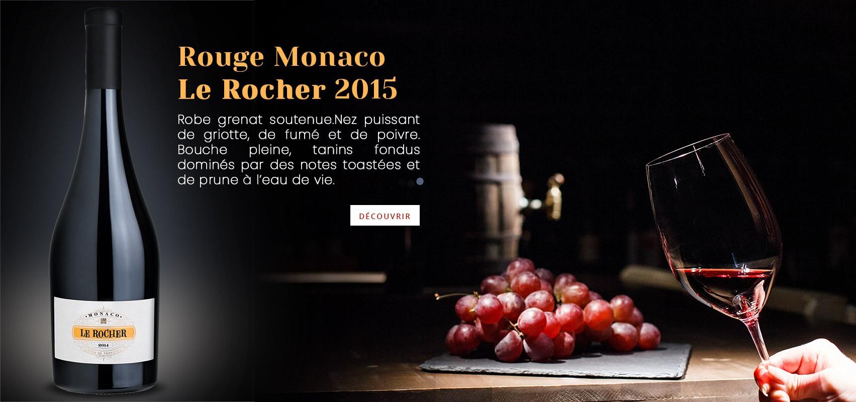 Vin Rouge Monaco Le Rocher 2015